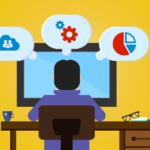 プログラミング初心者で異業種からIT企業に転職は可能か?【実体験】の記事のアイキャッチ画像 PC作業をするひとの画像