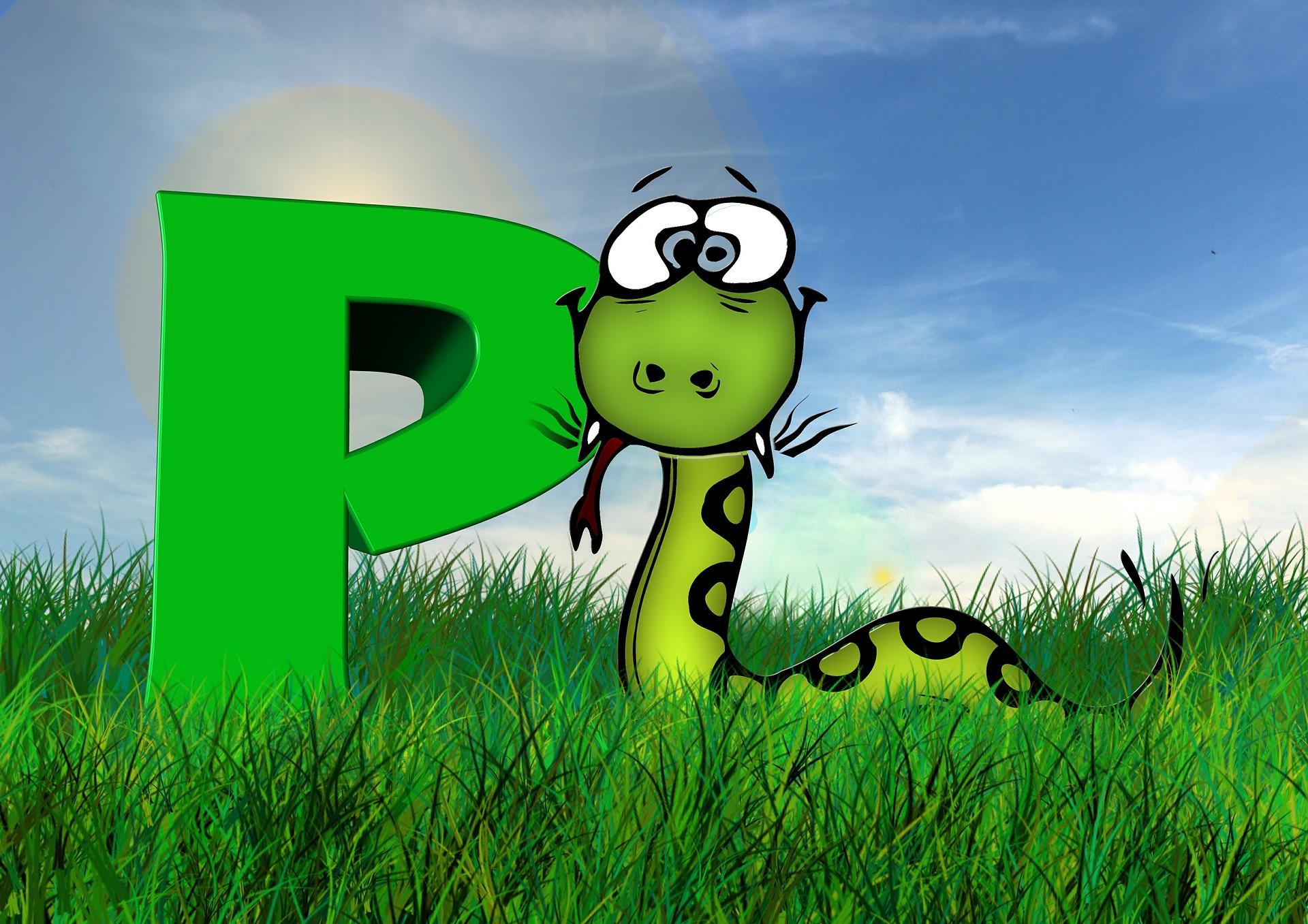 プログラミング言語Pythonのイメージ画像かわいい蛇のイラスト