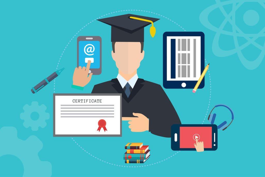 プログラミング資格の為に学習する人・資格取得の画像