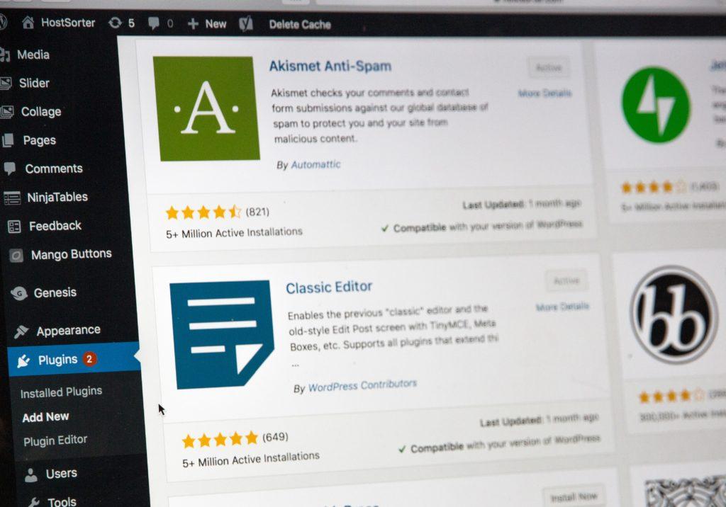 WordPressのプラグイン選択画面