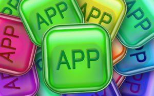 カラフルなアプリのイラスト